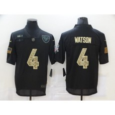 Houston Texans #4 Deshaun Watson Black Camo 2020 Salute To Service Limited Jersey