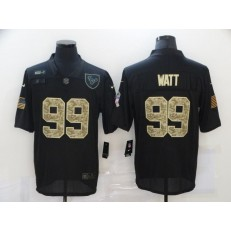 Houston Texans #99 J.J. Watt Black Camo 2020 Salute To Service Limited Jersey