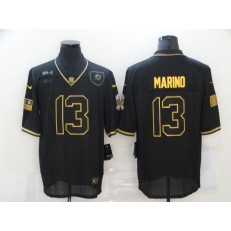 Miami Dolphins #13 Dan Marino Black Gold 2020 Salute To Service Limited Jersey