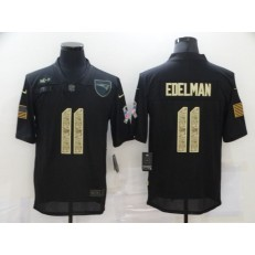 New England Patriots #11 Julian Edelman Black Camo 2020 Salute To Service Limited Jersey