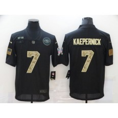 San Francisco 49ers #7 Colin Kaepernick Black Camo 2020 Salute To Service Limited Jersey