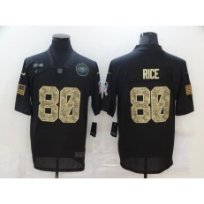 San Francisco 49ers #80 Jerry Rice Black Camo 2020 Salute To Service Limited Jersey