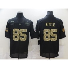 San Francisco 49ers #85 George Kittle Black Camo 2020 Salute To Service Limited Jersey