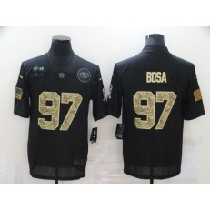 San Francisco 49ers #97 Nick Bosa Black Camo 2020 Salute To Service Limited Jersey