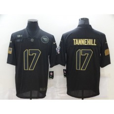 Tennessee Titans #17 Ryan Tannehill Black 2020 Salute To Service Limited Jersey