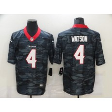 Houston Texans #4 Deshaun Watson Black Camo Limited Jersey