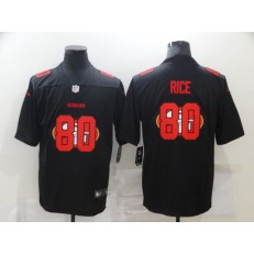 San Francisco 49ers #80 Jerry Rice Black Shadow Logo Limited Jersey