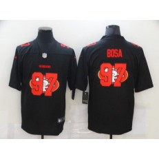 San Francisco 49ers #97 Nick Bosa Black Shadow Logo Limited Jersey