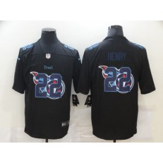 Tennessee Titans #22 Derrick Henry Black Shadow Logo Limited Jersey