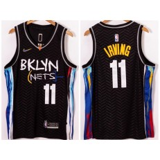 Brooklyn Nets #11 Kyrie Irving Black 2021 Nike Swingman Jersey