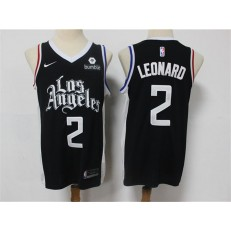 Los Angeles Clippers #2 Kawhi Leonard Black 2021 City Edition Nike Swingman Jersey