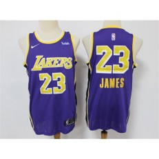 Los Angeles Lakers #23 Lebron James Purple Nike Swingman Jersey