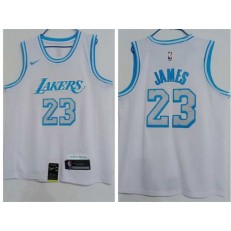Los Angeles Lakers #23 Lebron James White 2020-21 City Edition Nike Swingman Jersey