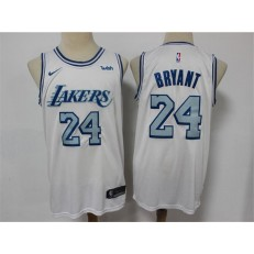 Los Angeles Lakers #24 Kobe Bryant White 2020-21 City Edition Nike Swingman Jersey