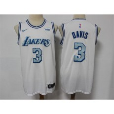 Los Angeles Lakers #3 Anthony Davis White 2020-21 City Edition Nike Swingman Jersey