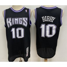Sacramento Kings #10 Mike Bibby Black 2001-02 Hardwood Classics Jersey