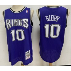 Sacramento Kings #10 Mike Bibby Purple 2001-02 Hardwood Classics Jersey