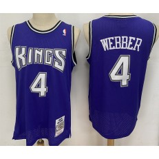 Sacramento Kings #4 Chris Webber Purple 1998-99 Hardwood Classics Jersey