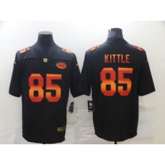 San Francisco 49ers #85 George Kittle Black Colorful Fashion Limited Jersey