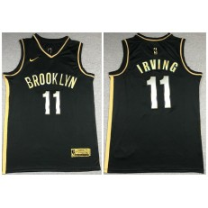 Brooklyn Nets #11 Kyrie Irving Black Gold 2021 Nike Swingman Jersey