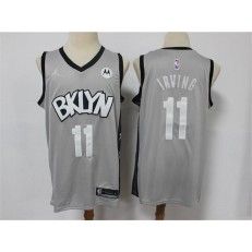 Brooklyn Nets #11 Kyrie Irving Gray 2021 Swingman Jersey