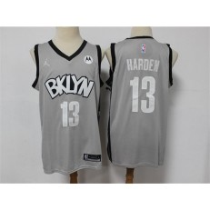 Brooklyn Nets #13 James Harden Gray 2021 Swingman Jersey