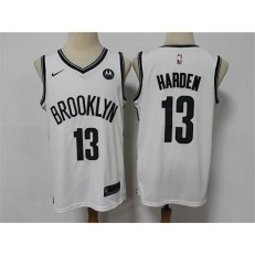 Brooklyn Nets #13 James Harden White 2021 Nike Swingman Jersey