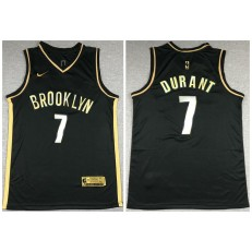 Brooklyn Nets #7 Kevin Durant Black Gold 2021 Nike Swingman Jersey