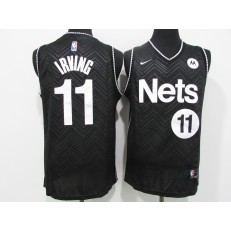 Brooklyn Nets #11 Kyrie Irving Black 2021 Earned Edition Swingman Jersey