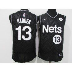 Brooklyn Nets #13 James Harden Black 2021 Earned Edition Swingman Jersey