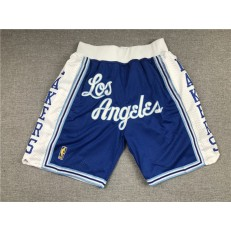 Los Angeles Lakers Teams Blue Just Don With Pocket Swingman Shorts