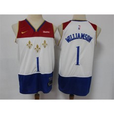 New Orleans Pelicans #1 Zion Williamson White 2020-21 City Edition Nike Swingman Jersey