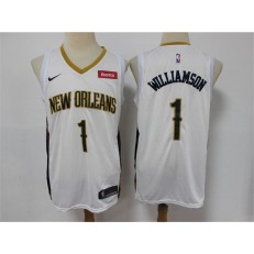 New Orleans Pelicans #1 Zion Williamson White Earned Edition Nike Swingman Jersey