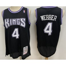 Sacramento Kings #4 Chris Webber Black 1998-99 Hardwood Classics Jersey