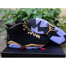 AIR JORDAN 6 RETRO OVO BLACK NUBUCK GOLD