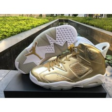 AIR JORDAN 6 RETRO P1NNACLE GOLD WHITE