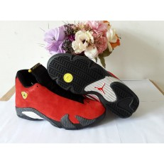 AIR JORDAN 14 RETRO FERRARI RED SUEDE