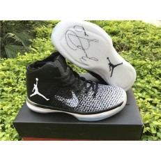 AIR JORDAN 31 FINE PRINT BLACK WHITE WOLF GREY
