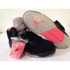 AIR JORDAN 5 RETRO (GS) BLACK FUSION PINK
