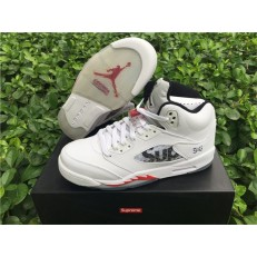 AIR JORDAN 5 RETRO GS SUPREME WHITE