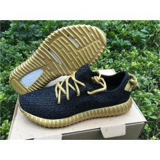 ADIDAS YEEZY BOOST 350 BLACK AND GOLD
