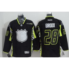 Philadelphia Flyers #28 Claude Giroux Black 2015 All Star Stitched NHL Jersey