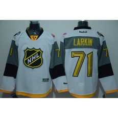 Detroit Red Wings #71 Dylan Larkin White 2016 All Star NHL Jersey