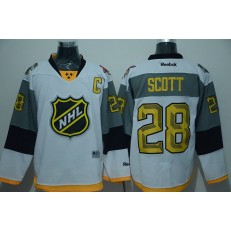 Montreal Canadiens #28 John Scott captain White 2016 NHL All Star Jersey