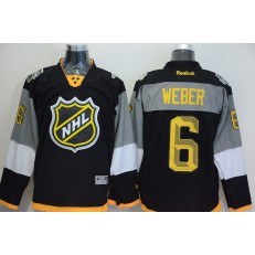 Nashville Predators #6 Shea Weber Black 2016 NHL All Star Jersey