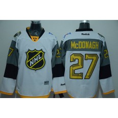 New York Rangers #27 Ryan Mcdonagh White 2016 All Star NHL Jersey