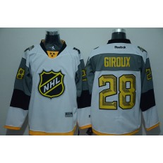 Philadelphia Flyers #28 Claude Giroux White 2016 All Star NHL Jersey