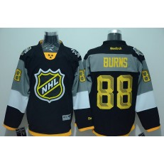 San Jose Sharks #88 Brent Burns Black 2016 All Star Stitched NHL Jersey