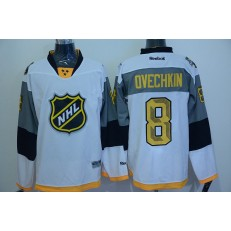 Washington Capitals #8 Alex Ovechkin White 2016 All Star Premier NHL Jersey