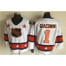 1980 All Star #1 Eddie Giacomin White CCM Throwback Stitched NHL Jersey